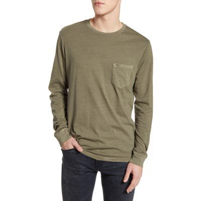 Rvca Pigment Dyed Long Sleeve Pocket T-Shirt, Green