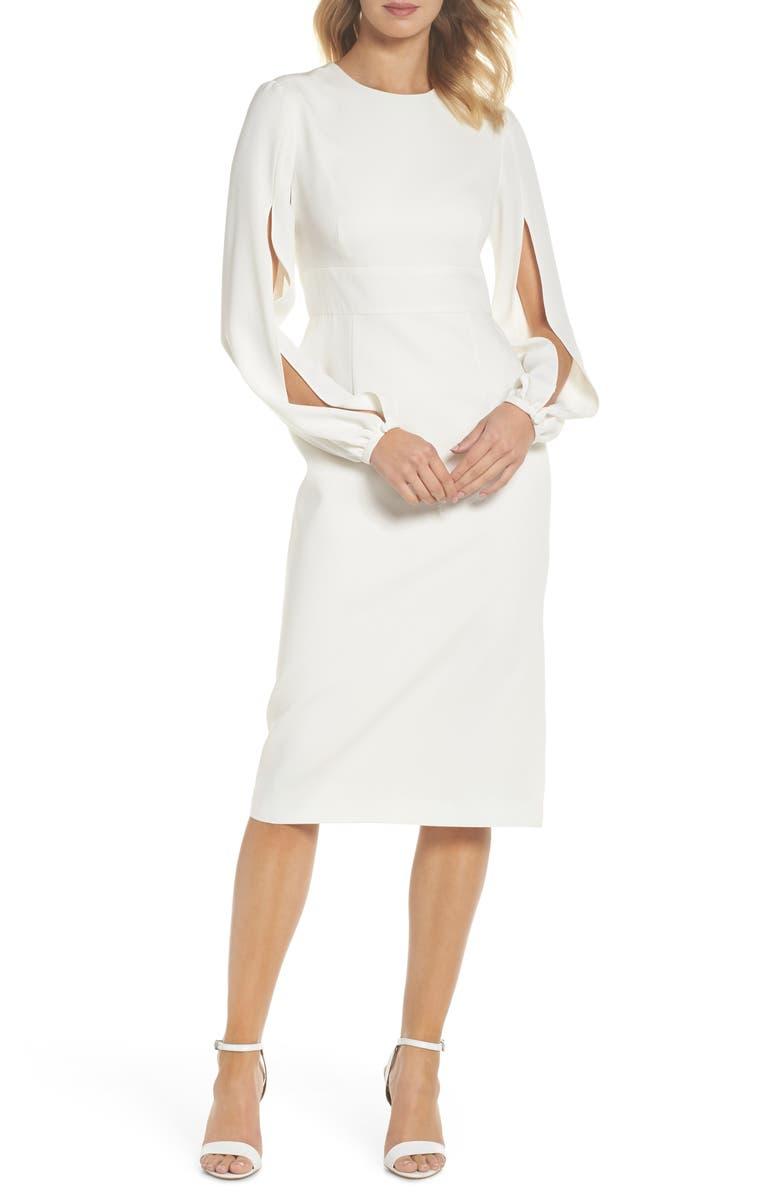 JILL JILL STUART Slit Sleeve Sheath Dress, Main, color, 902