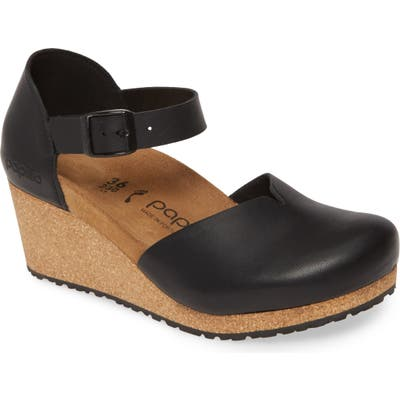 Birkenstock Mary Wedge Clog, Black