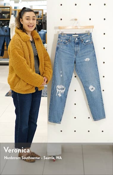Wedgie Icon Fit Ripped Straight Leg Jeans, sales video thumbnail