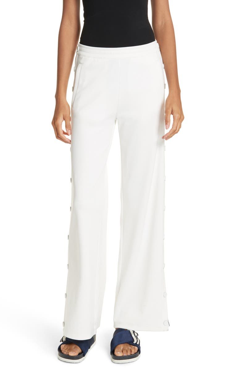 TORY SPORT Banner Tearaway Track Pants, Main, color, SNOW WHITE
