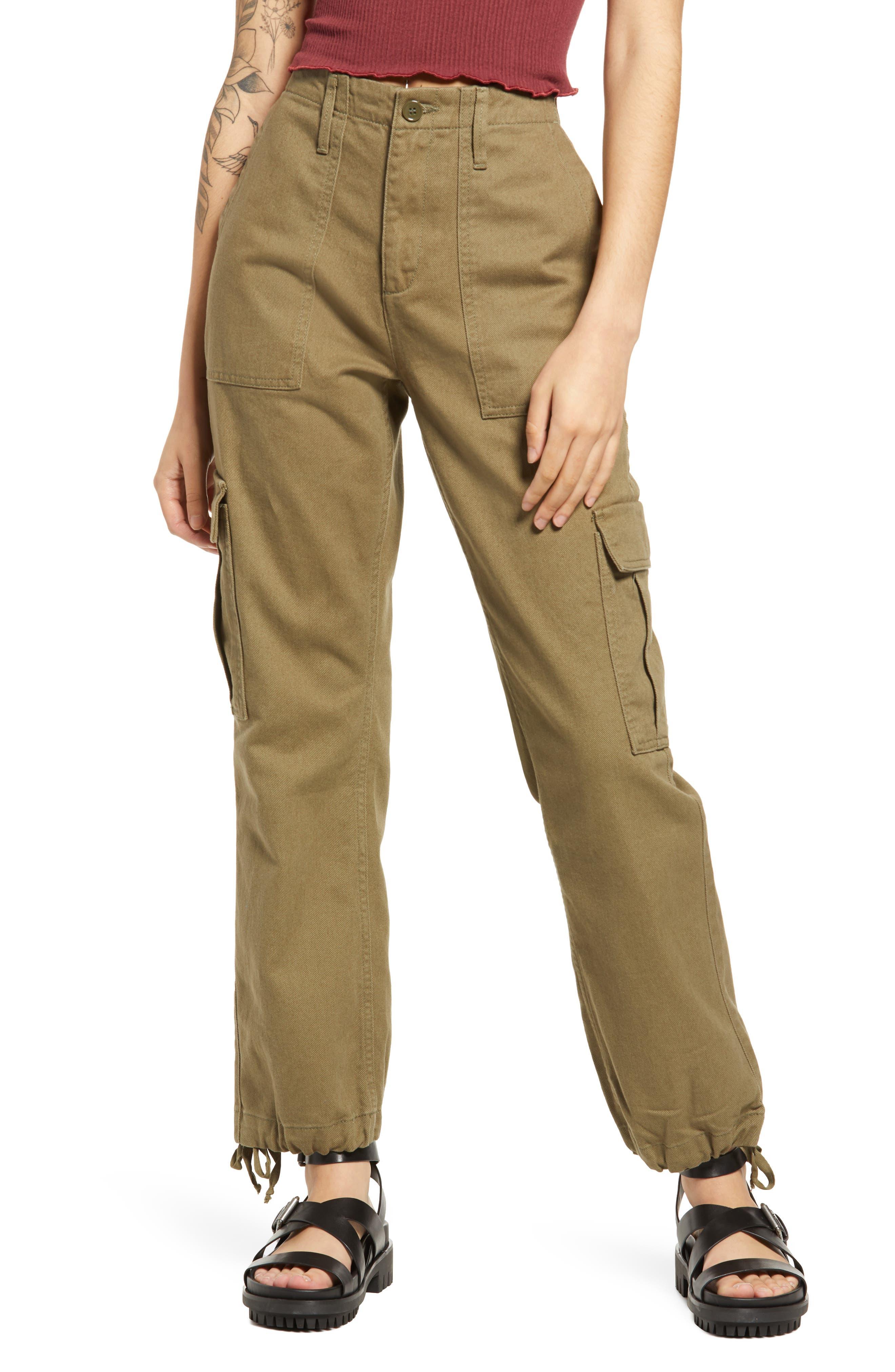 Drawstring Cuff Cargo Pants