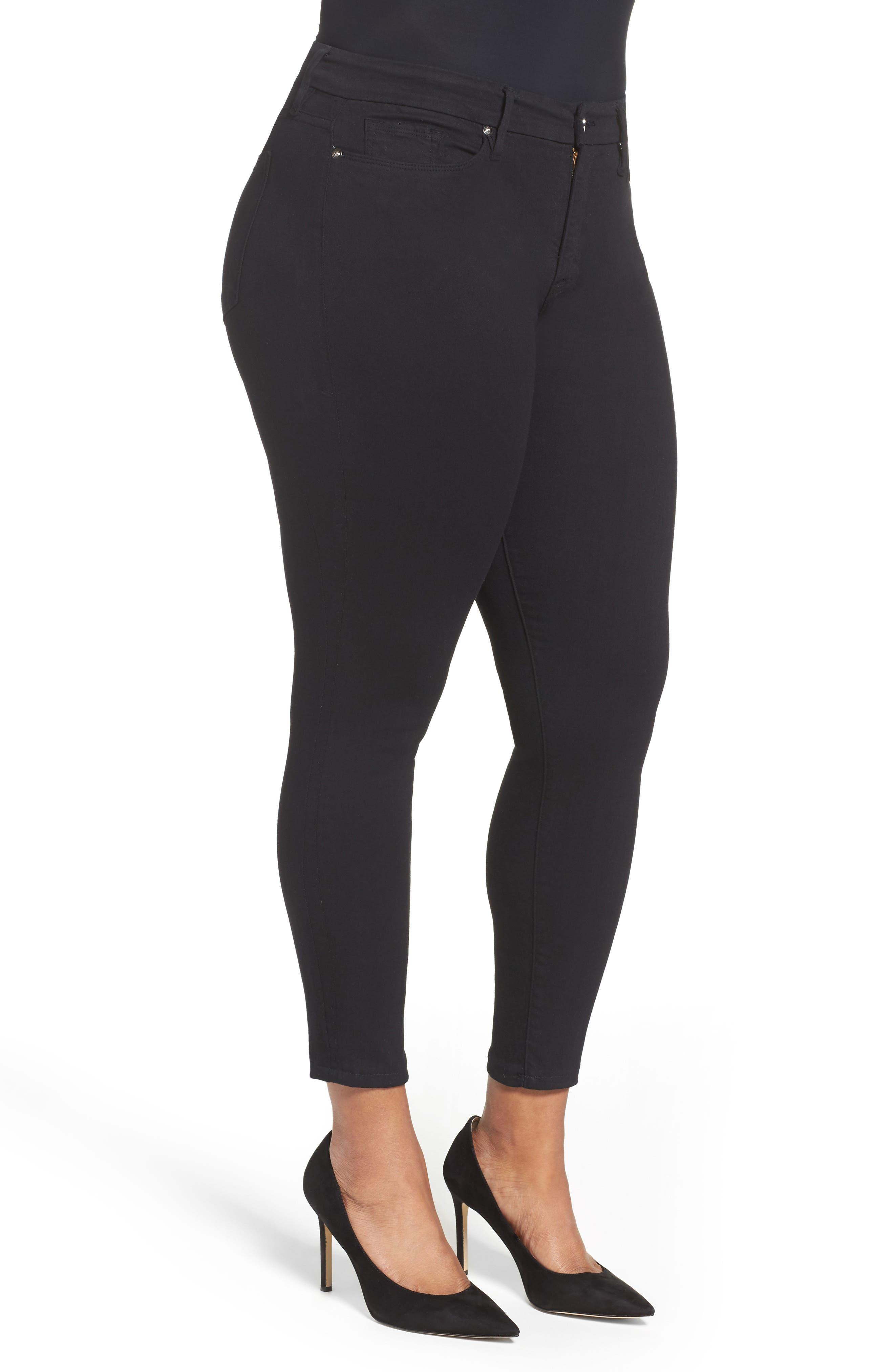 ,                             Good Legs High Rise Skinny Jeans,                             Alternate thumbnail 10, color,                             BLACK 001