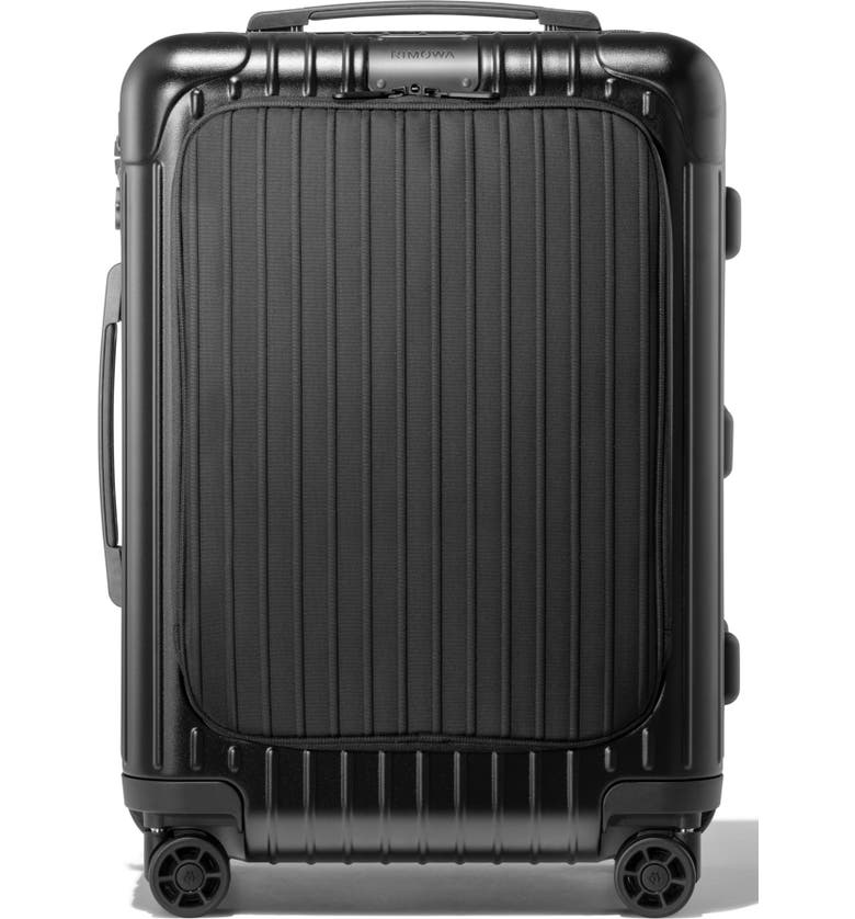 RIMOWA Essential Sleeve Cabin 22-Inch Wheeled Suitcase, Main, color, MATTE BLACK
