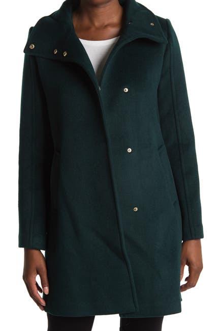 Image of Cole Haan Long Wool Winter Coat