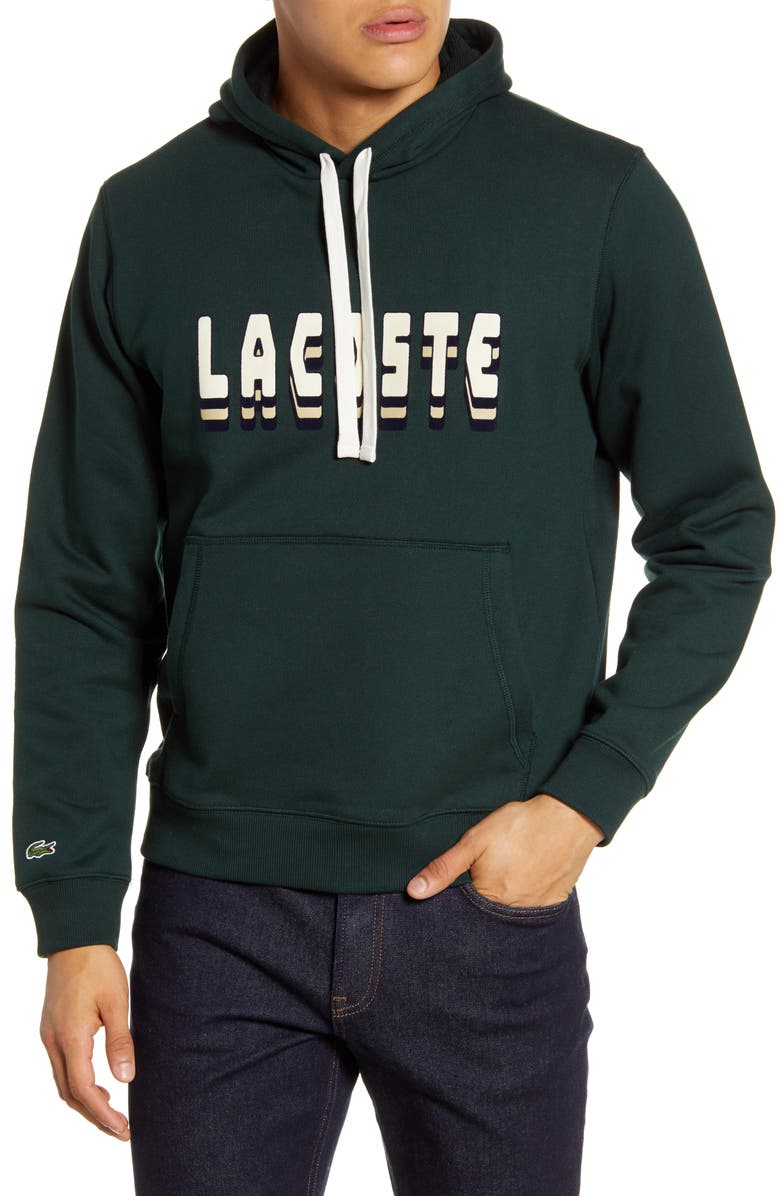 LACOSTE 3D Logo Graphic Hooded Sweatshirt, Main, color, 300