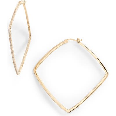 Nordstrom Pave Square Inside Out Hoop Earrings