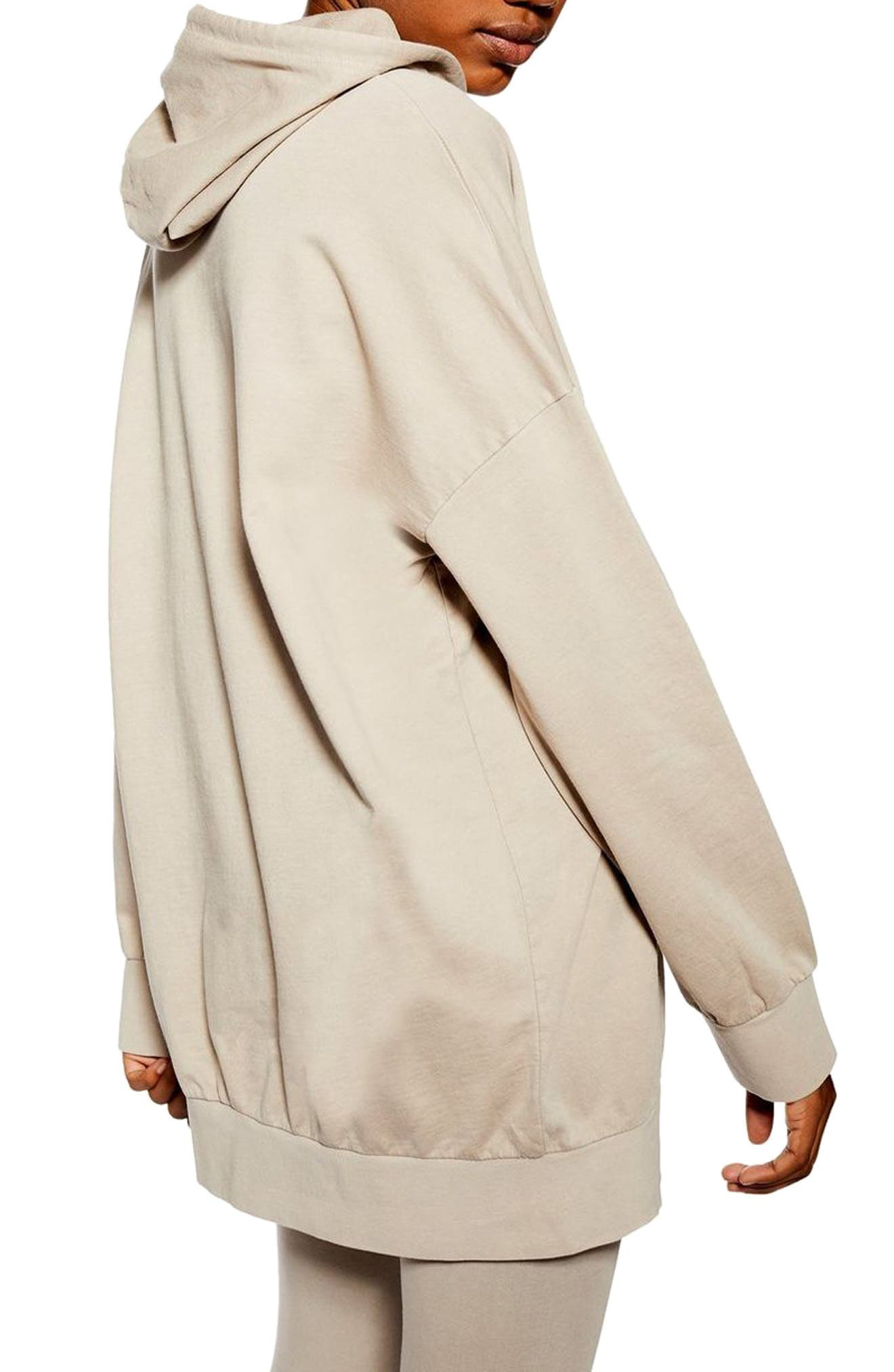 ,                             Oversize Lounge Hoodie,                             Alternate thumbnail 2, color,                             STONE