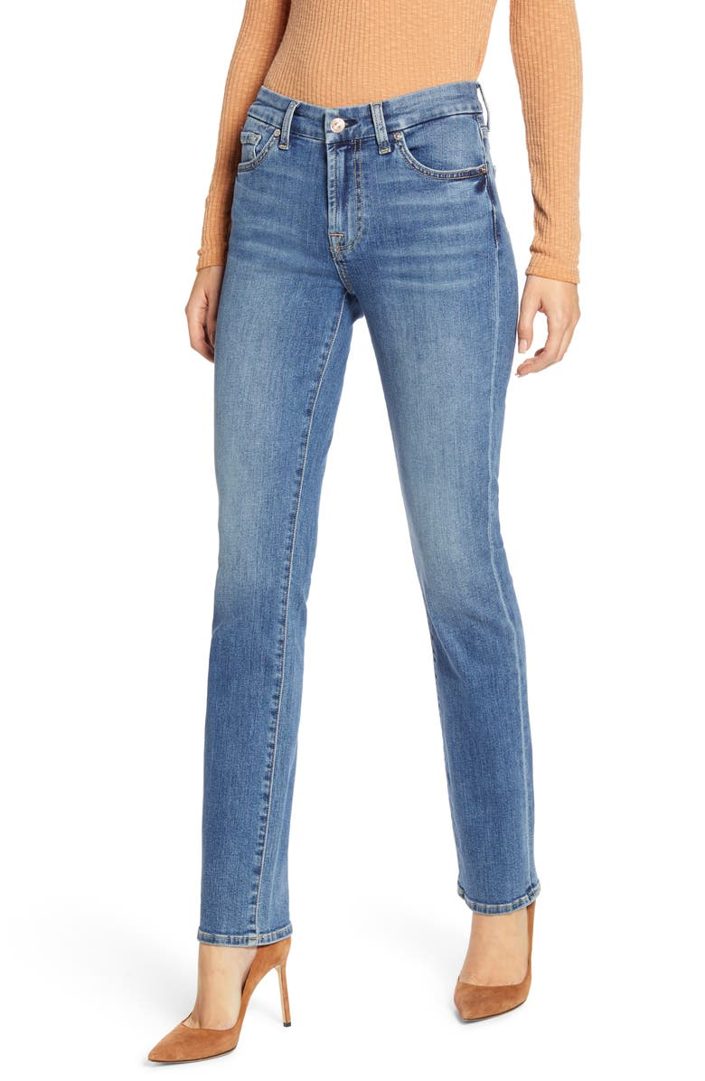 7 FOR ALL MANKIND<SUP>®</SUP> b(air) Kimmie Straight Leg Jeans, Main, color, BAIR AUTHENTIC DESTINY