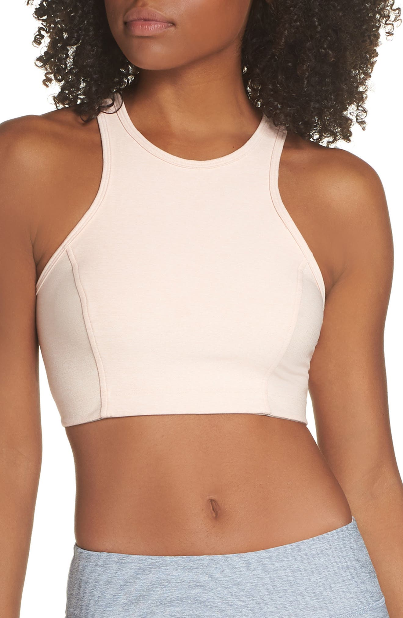 Athena Crop Top, Main, color, ROSE QUARTZ