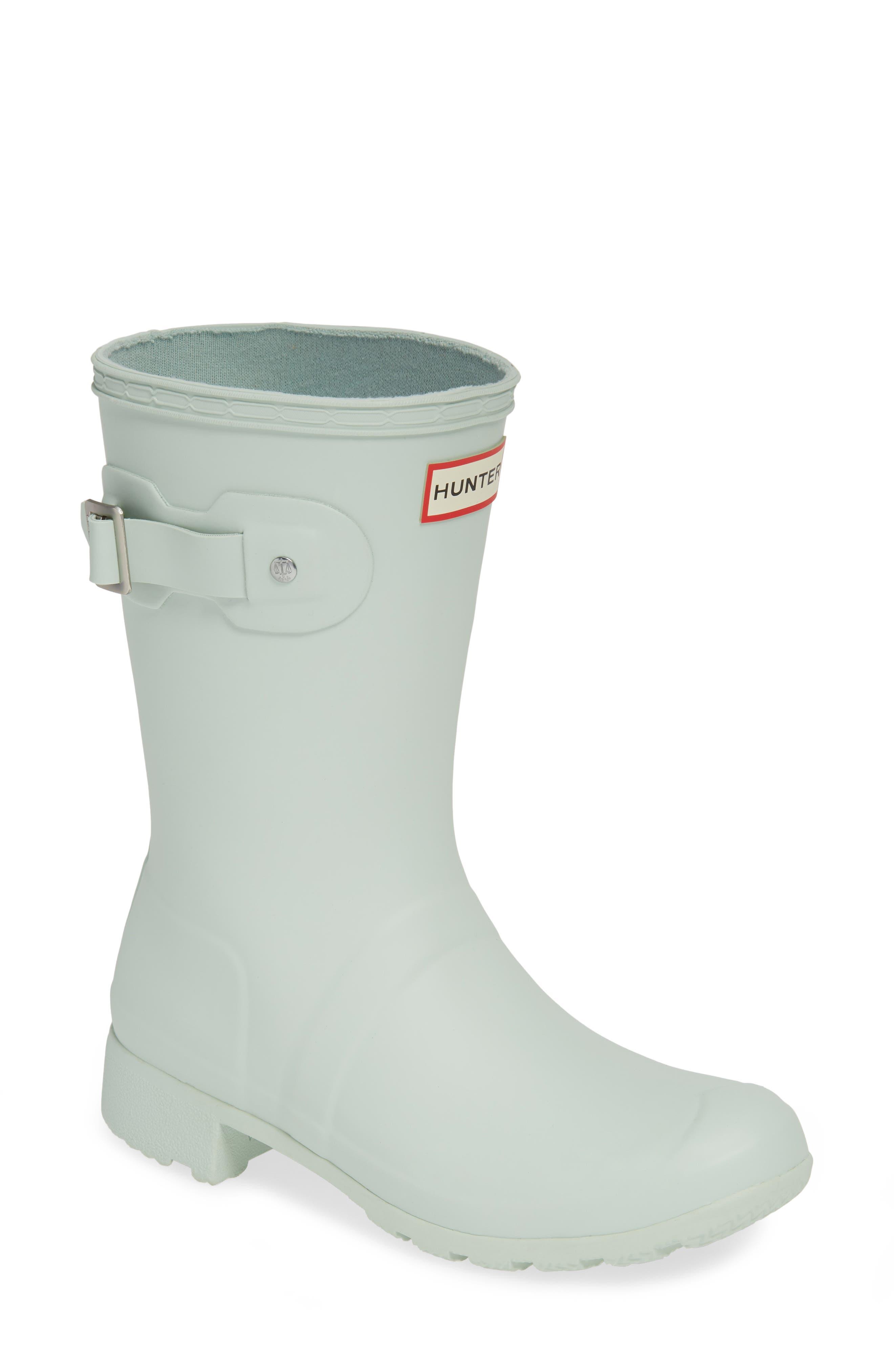 Hunter Original Tour Short Packable Rain Boot, Green