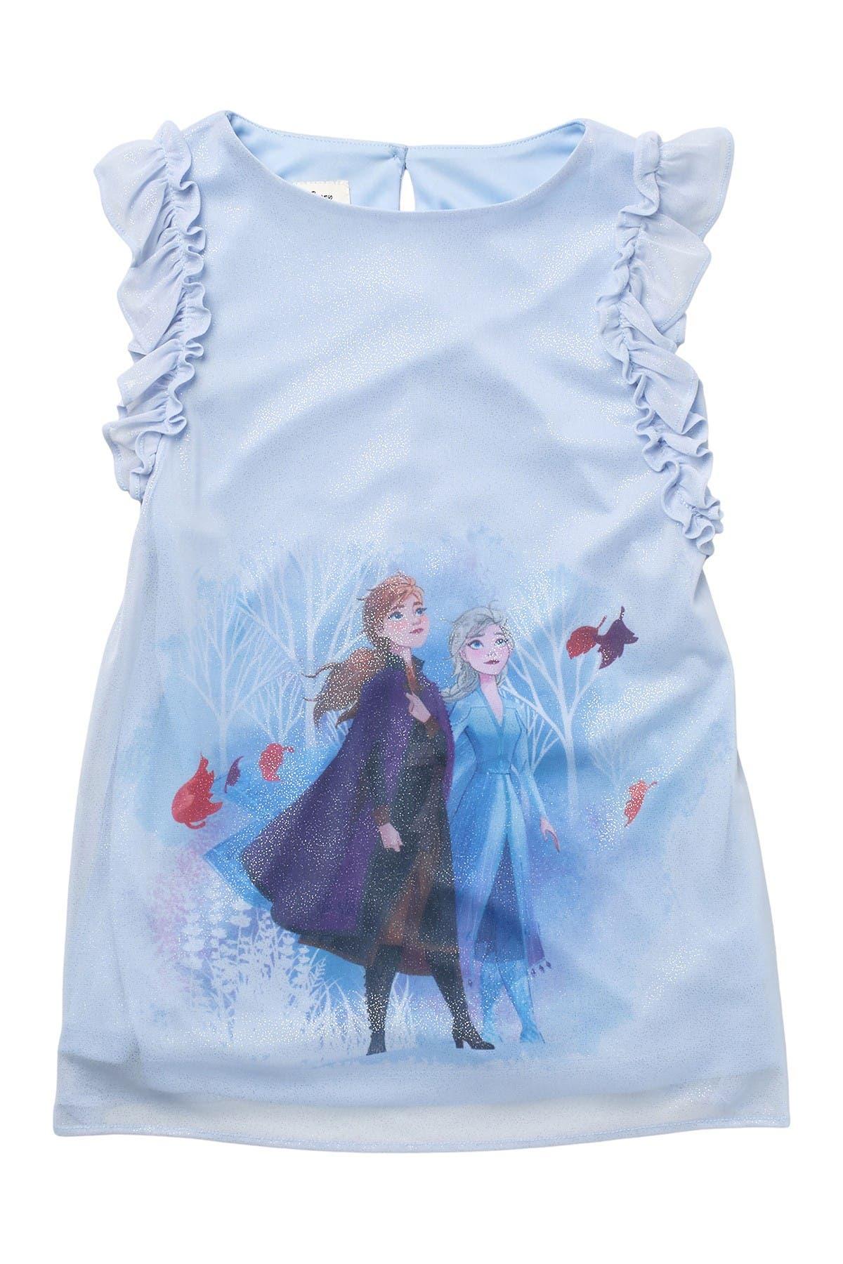 Image of Pastourelle by Pippa and Julie Disney Frozen Anna & Elsa Print Shift Dress