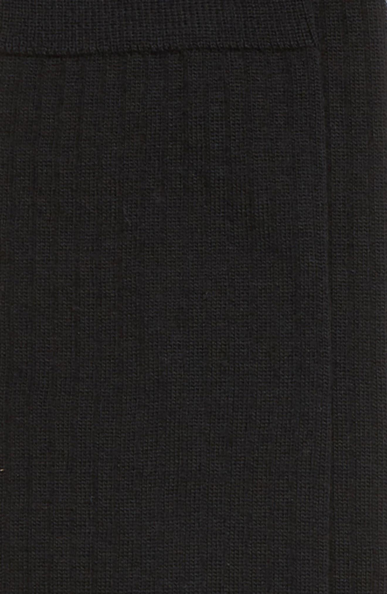 ,                             Ribbed Merino Wool Blend Socks,                             Alternate thumbnail 2, color,                             BLACK