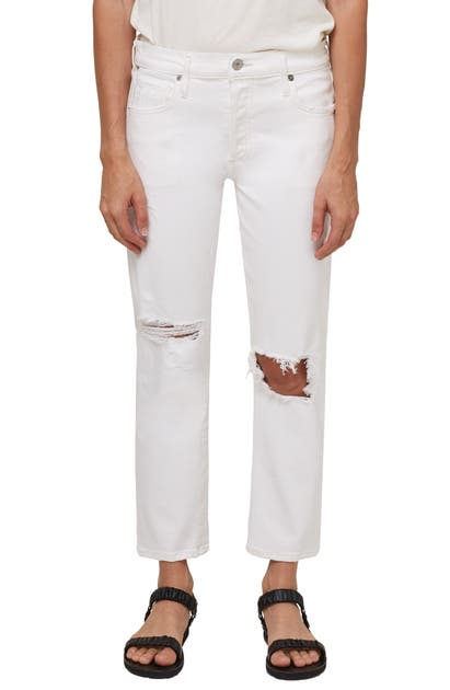 Citizens Of Humanity EMERSON RIPPED MID RISE SLIM BOYFRIEND JEANS