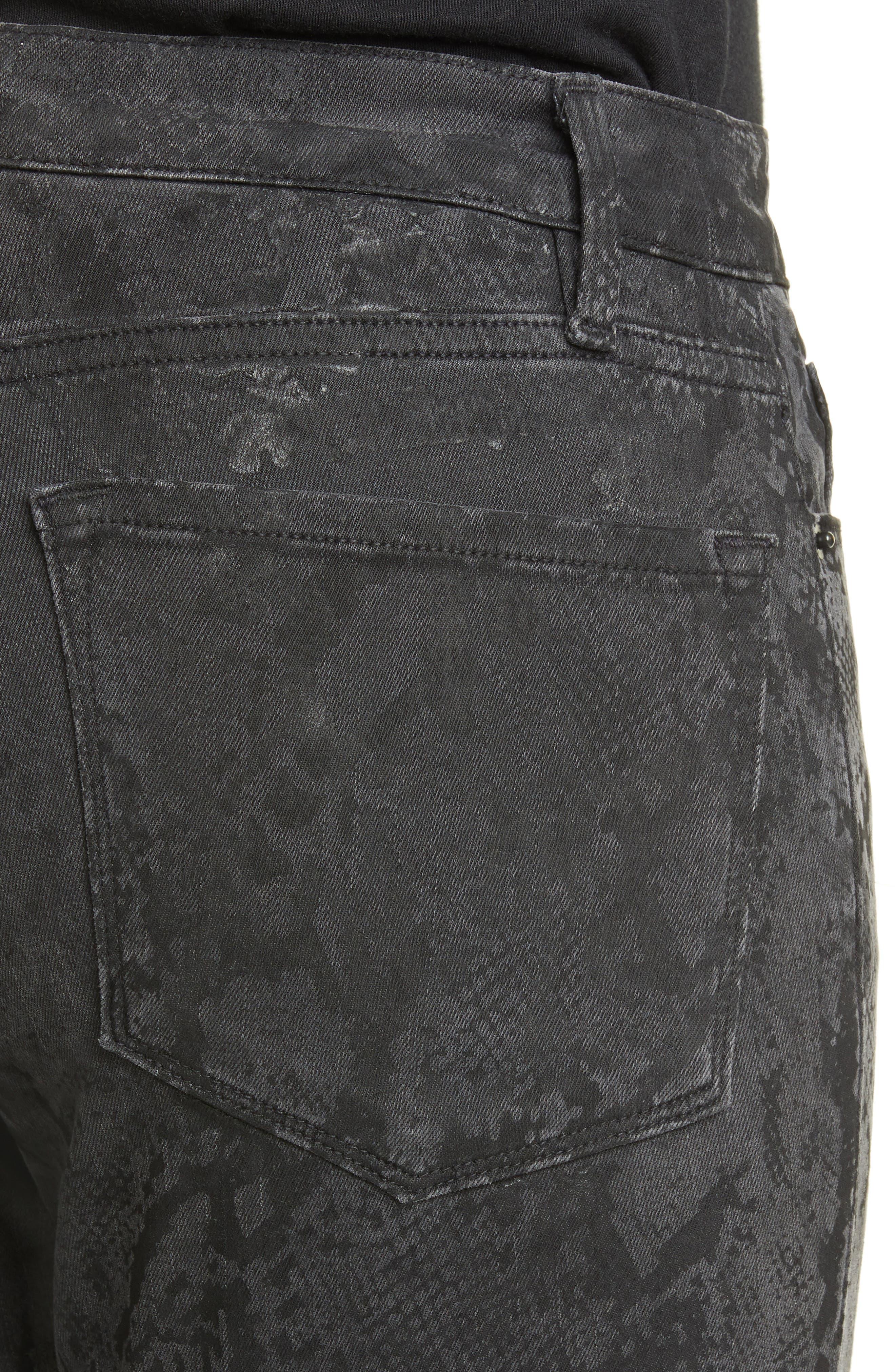 FRAME   Le Skinny de Jeanne Python Print Jeans   Nordstrom Rack