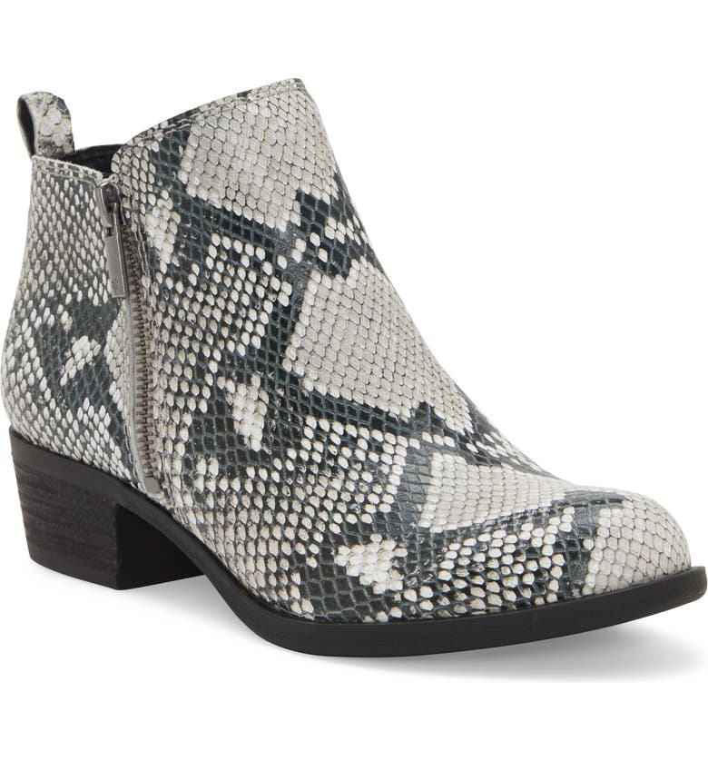 LUCKY BRAND Basel Bootie, Main, color, SNAKE PRINT LEATHER