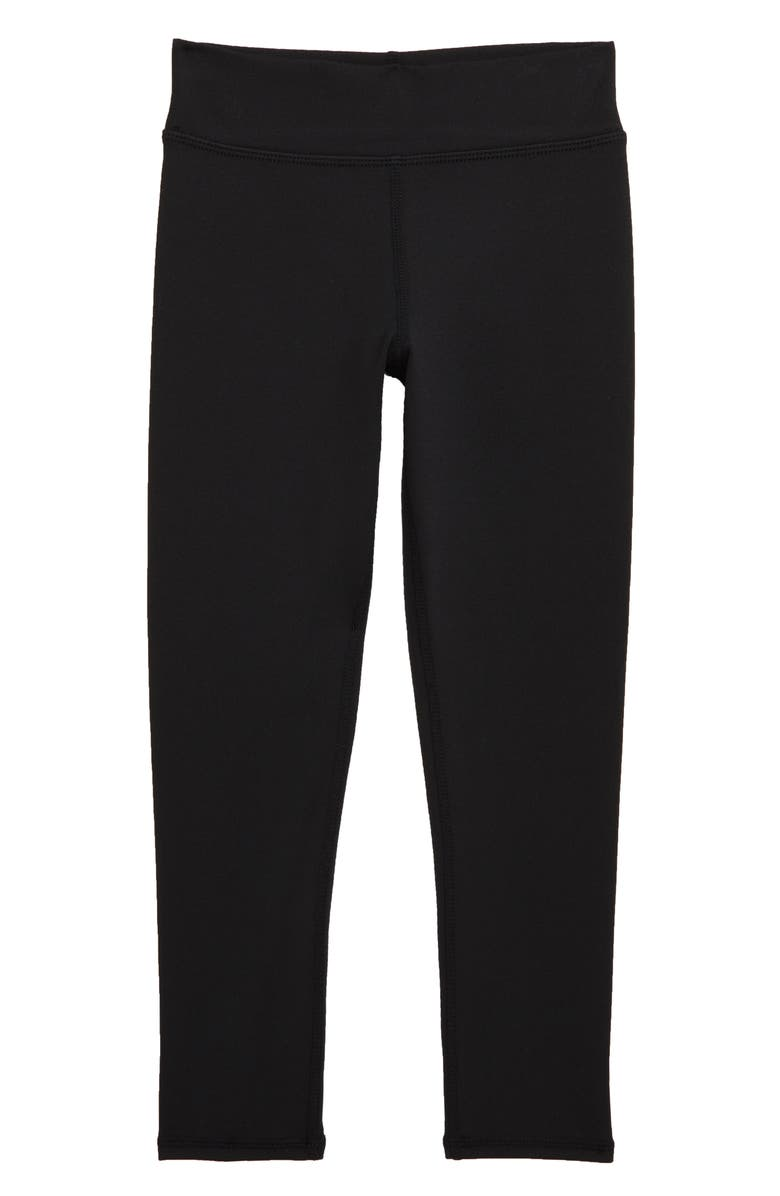 ZELLA GIRL Everyday High Waist Leggings, Main, color, BLACK