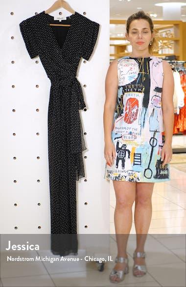 Cassandra Print Silk Jumpsuit, sales video thumbnail