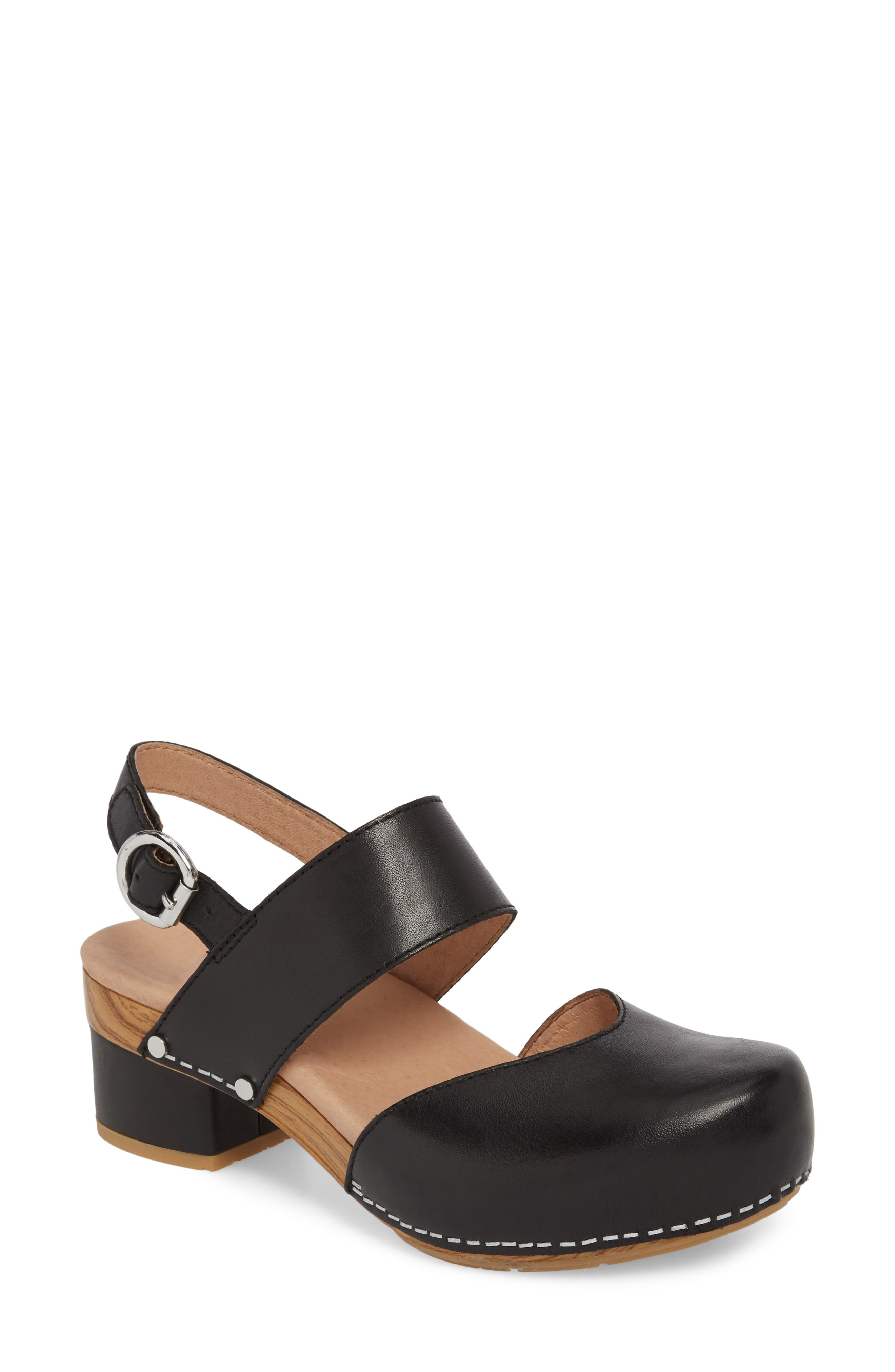 Malin Sandal, Main, color, BLACK LEATHER