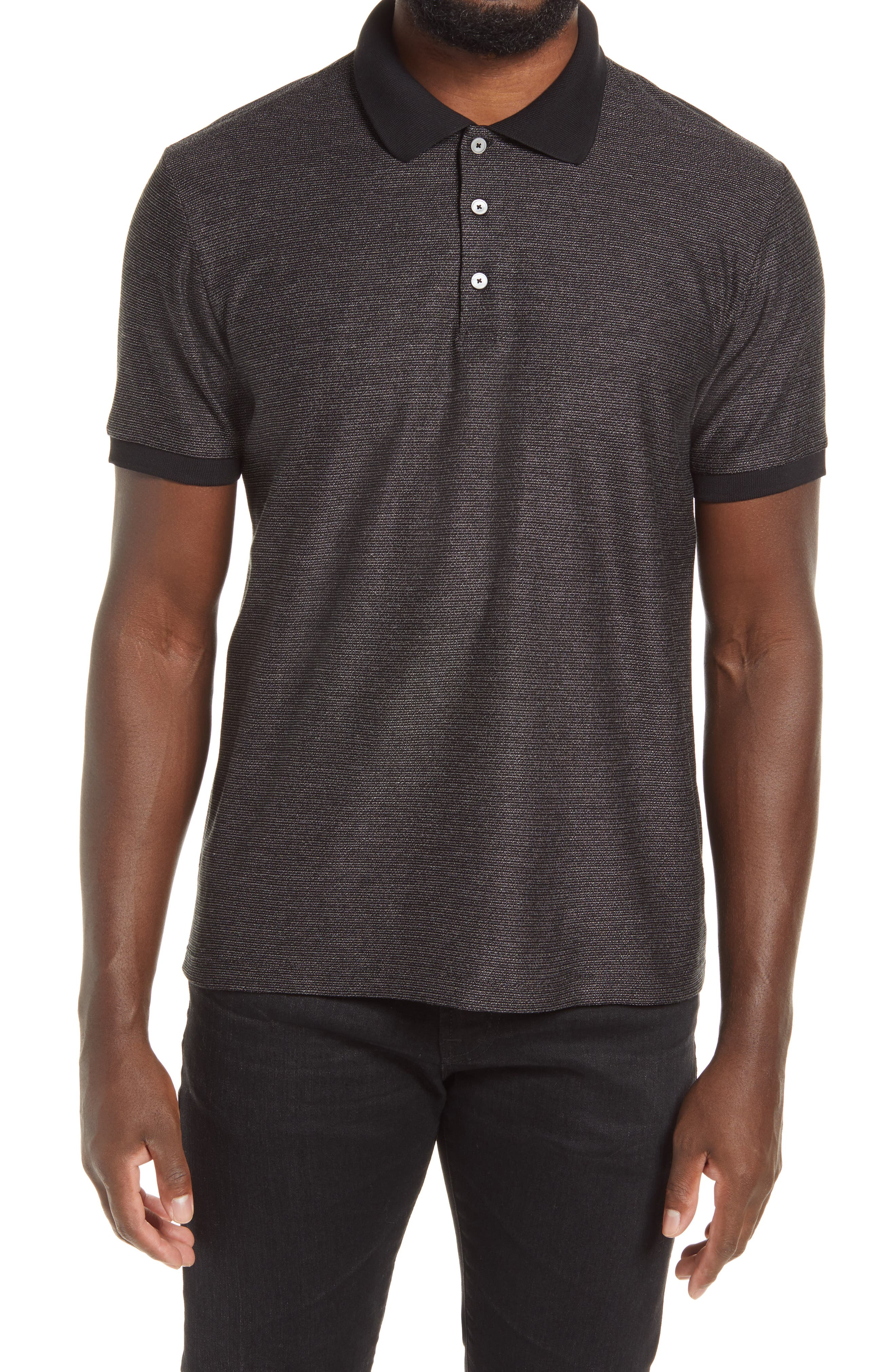Image of Theory Micro Grid Short Sleeve Polo
