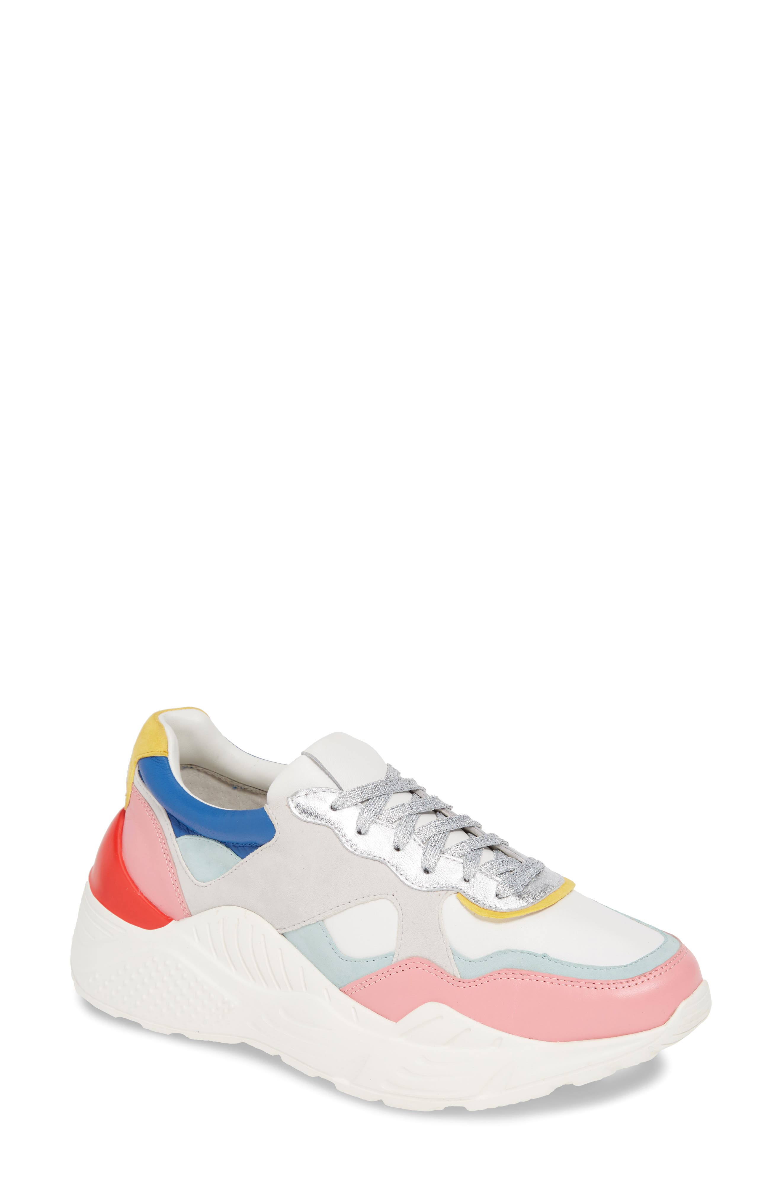 Alice + Olivia Claudine Lace-Up Sneaker, White