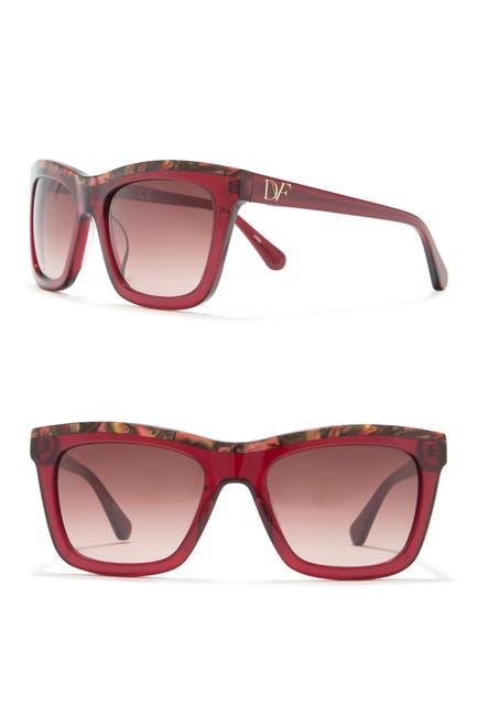 Image of Diane von Furstenberg 56mm Tessa Square Sunglasses