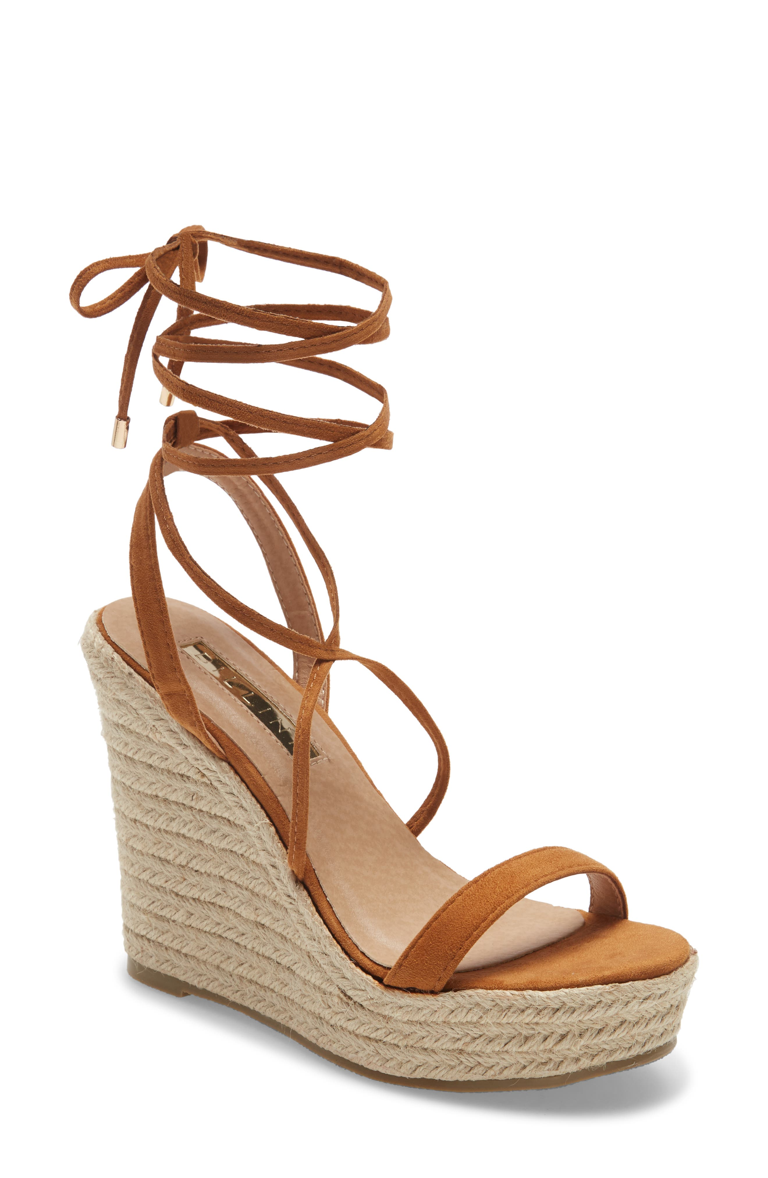 Sloane Strappy Ankle Tie Wedge Sandal