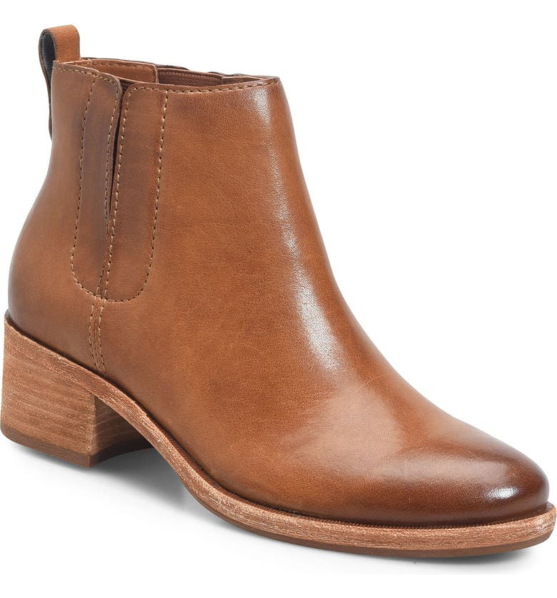 KORK-EASE<SUP>®</SUP> Mindo Chelsea Bootie, Main, color, BROWN LEATHER