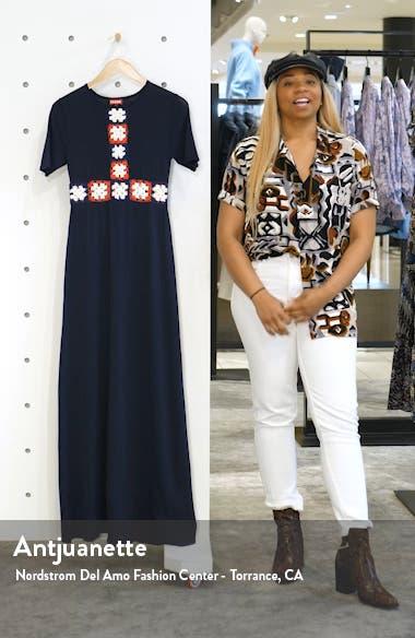 Plage Crochet Panel Maxi Dress, sales video thumbnail