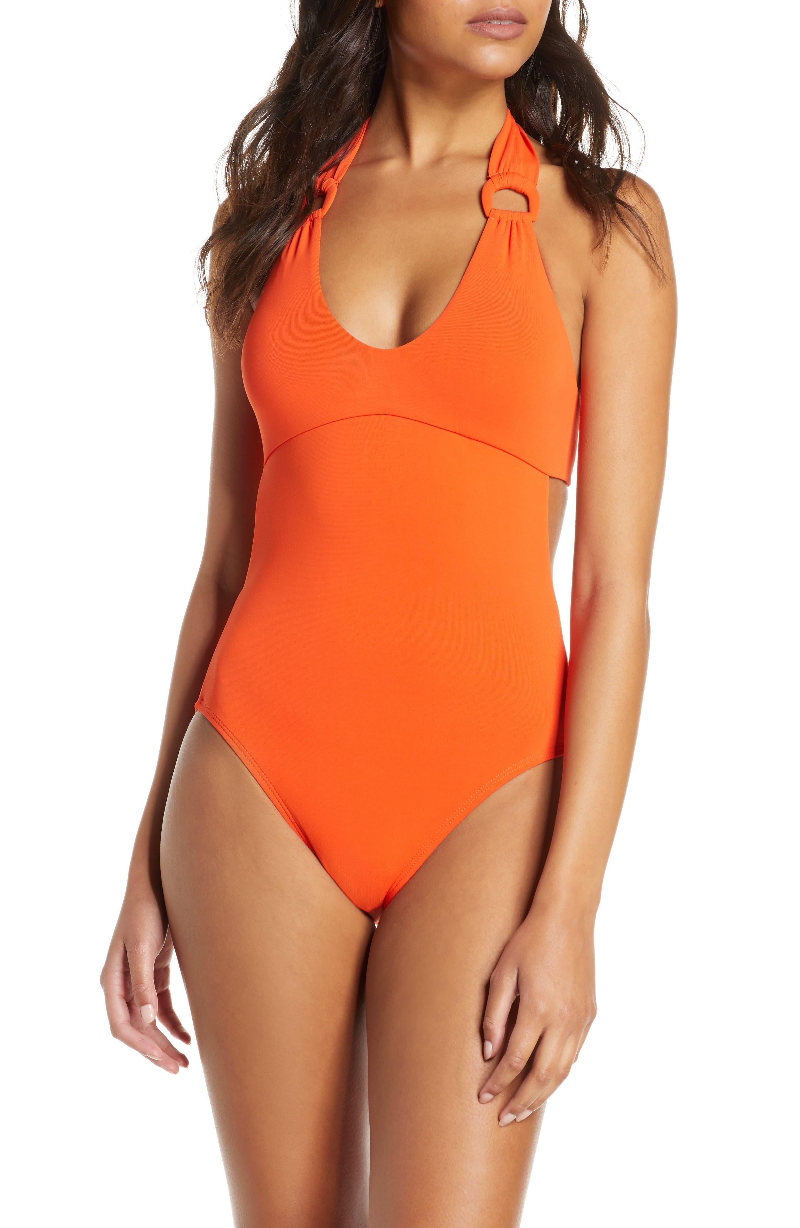 Robin Piccone Kate One-Piece Swimsuit, Orange