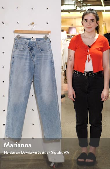 Crisscross Upsize High Waist Jeans, sales video thumbnail