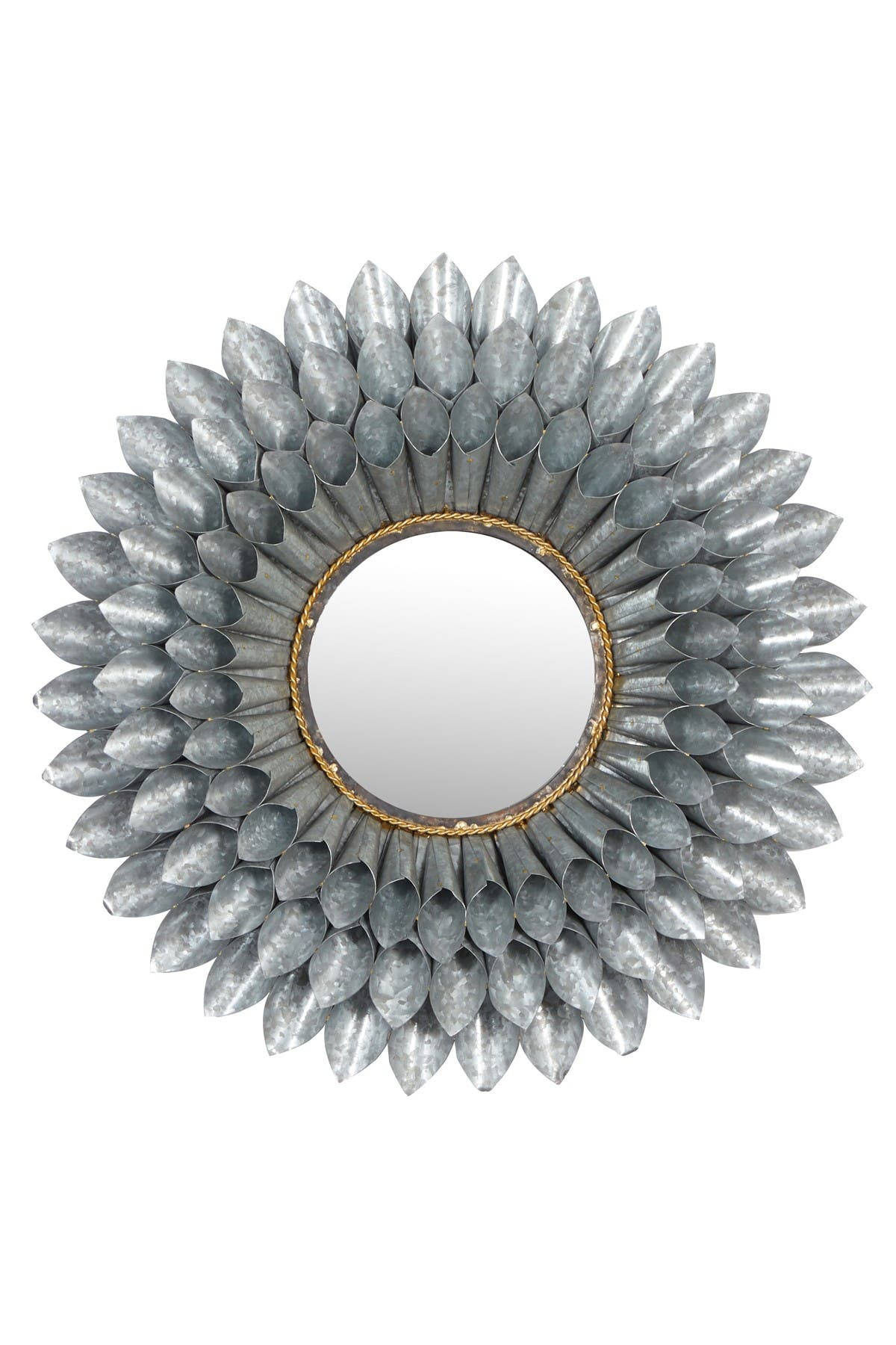 Willow Row Large Round 3d Silver Metal Floral Accent Mirror 32 Nordstrom Rack