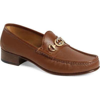 Gucci Tack Bit Loafer, Brown