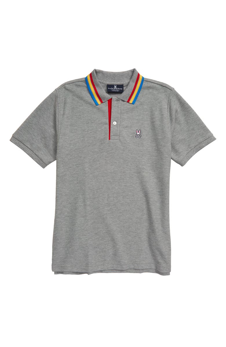 PSYCHO BUNNY Shortlands Polo, Main, color, HEATHER GREY