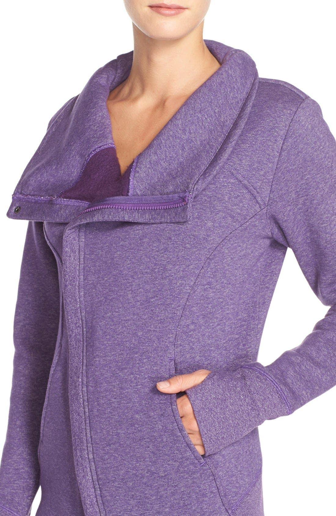 ,                             'Snowdrift' Asymmetrical Zip Sweatshirt,                             Alternate thumbnail 22, color,                             501