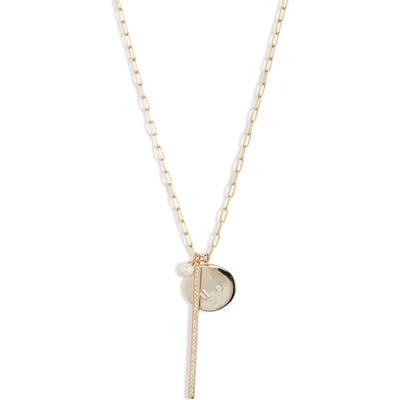 Argento Vivo Long Charm Cluster Necklace