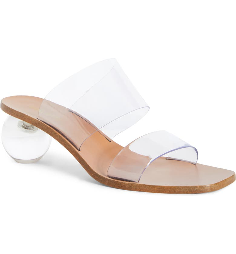 CULT GAIA Jila Slide Sandal, Main, color, CLEAR