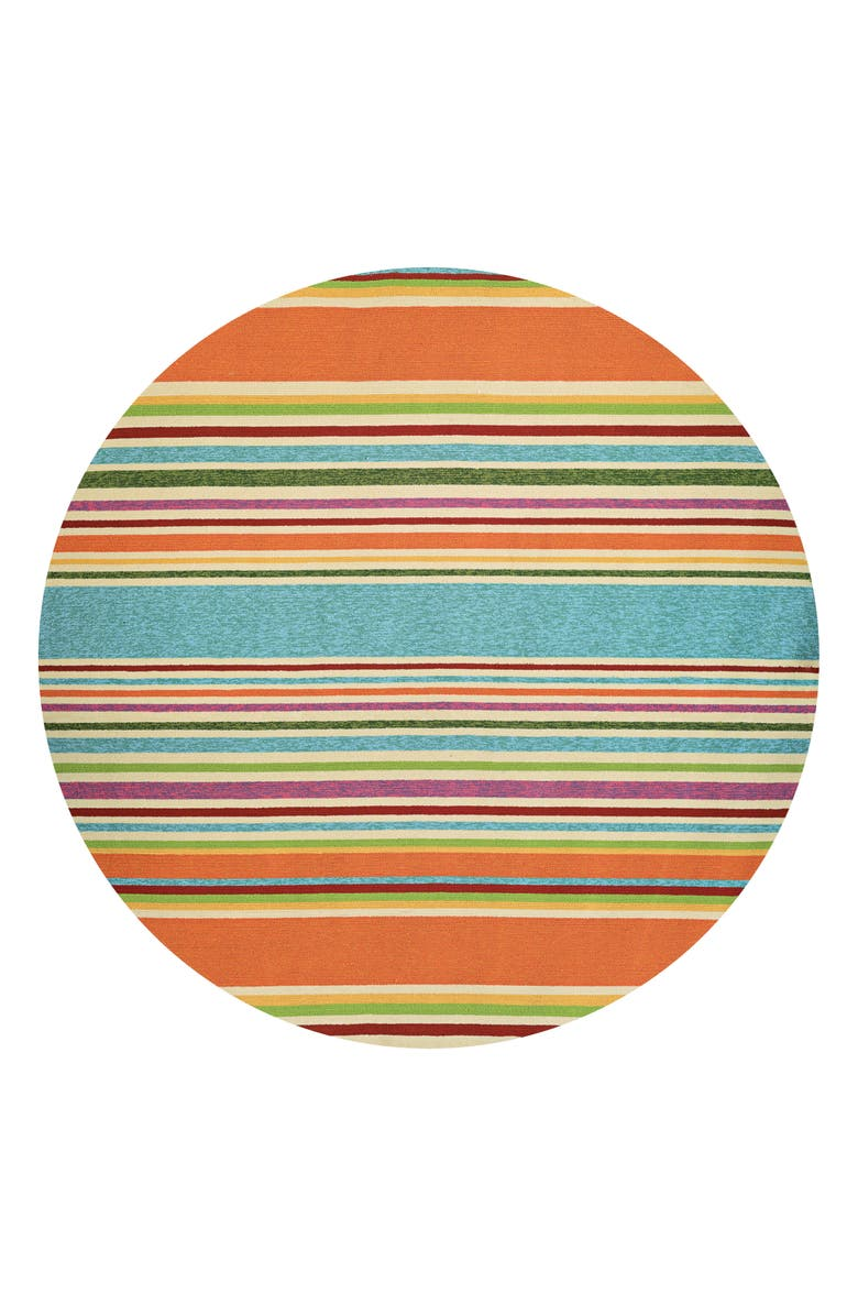 COURISTAN Sherbet Stripe Indoor/Outdoor Rug, Main, color, ORANGE/ MULTI