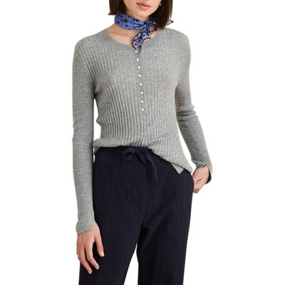 Alex Mill Wool Blend Henley Sweater, Grey
