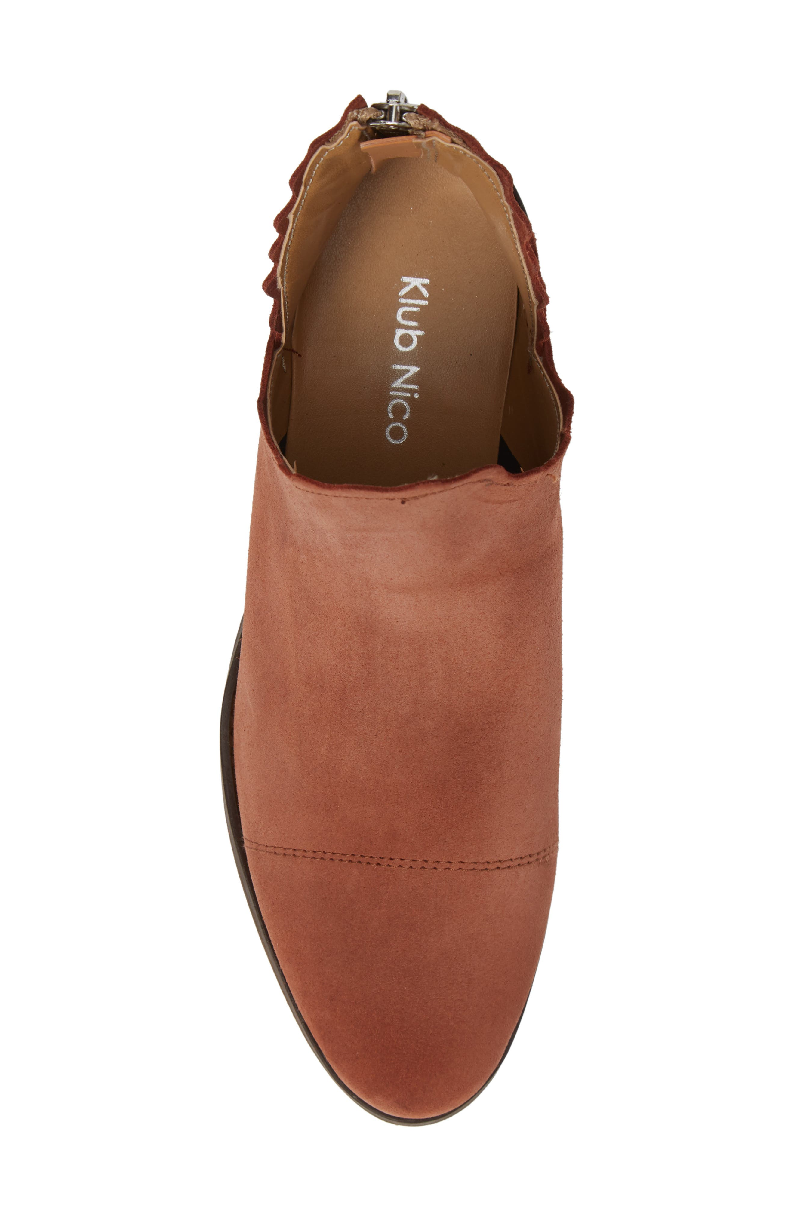 ,                             Bae Scalloped Bootie,                             Alternate thumbnail 5, color,                             TERRACOTTA SUEDE