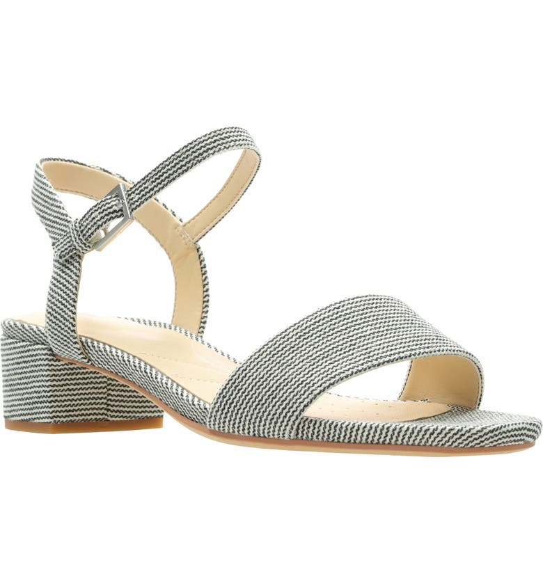 CLARKS<SUP>®</SUP> Orabella Iris Sandal, Main, color, NAVY CANVAS