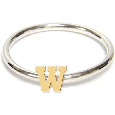 Jane Basch Designs Two-Tone Initial Ring