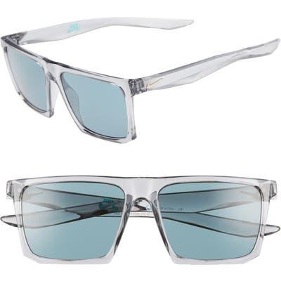 Nike Ledge 5m Sunglasses - Matte Wolf Grey/ Teal
