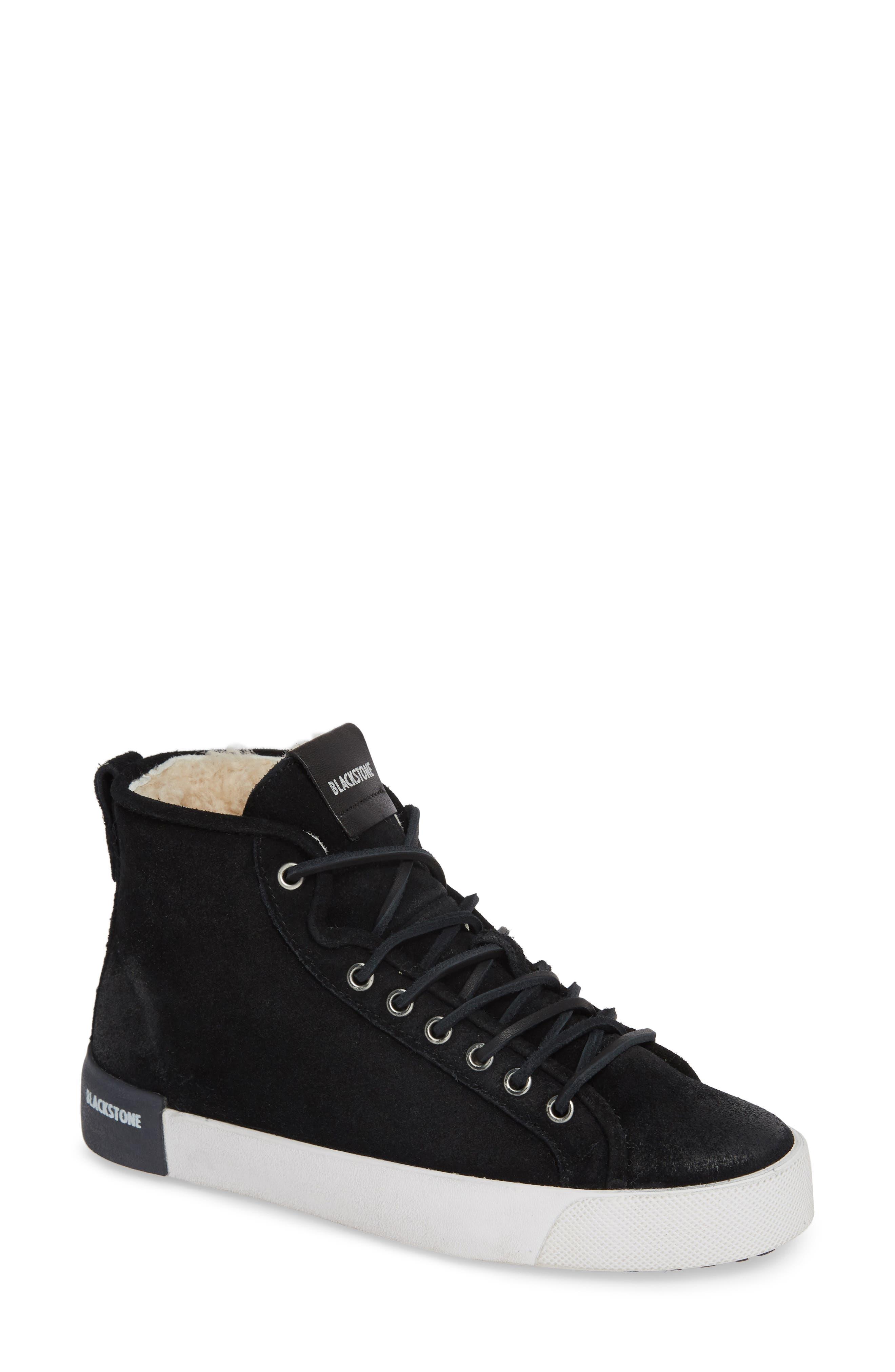 Blackstone Ql70 Genuine Shearling Lined Sneaker, Black