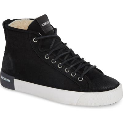 Blackstone Ql70 Genuine Shearling Lined Sneaker, Black