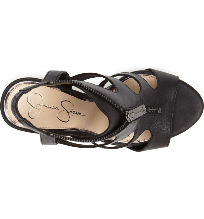 JESSICA SIMPSON 'Carmyne' Leather Sandal, Main, color, 002