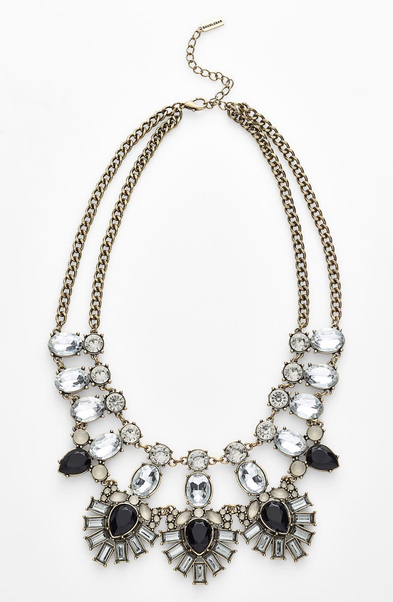 BAUBLEBAR 'Drama' Mixed Stone Statement Necklace, Main, color, 001