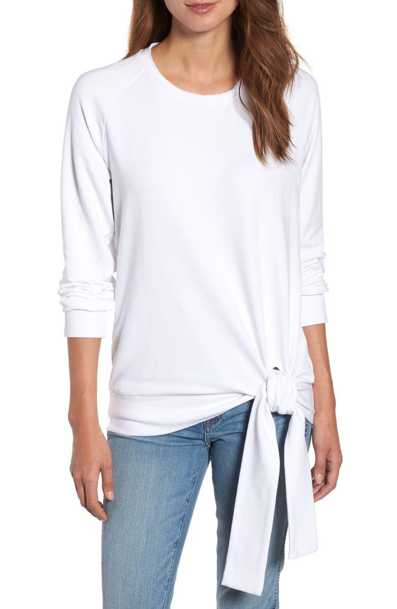 CASLON<SUP>®</SUP> Tie Knot Sweatshirt, Main, color, 100