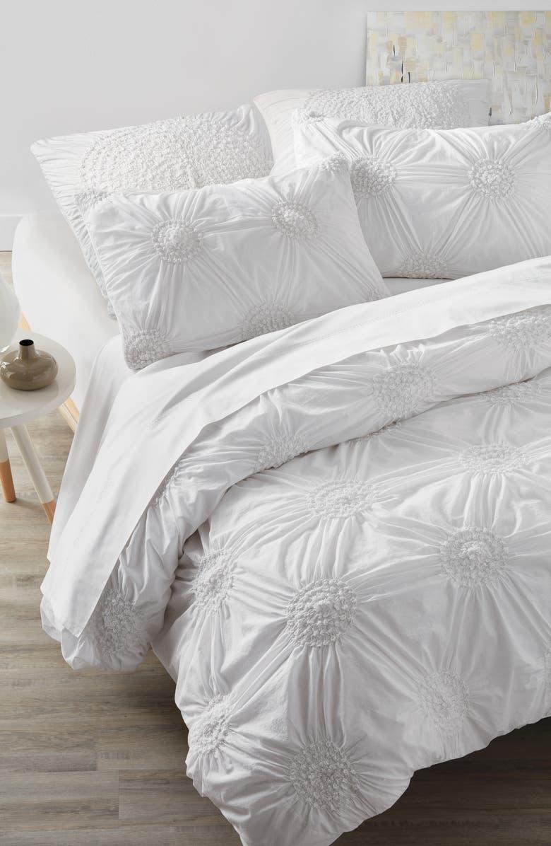 NORDSTROM AT HOME 'Chloe' Duvet Cover, Main, color, WHITE