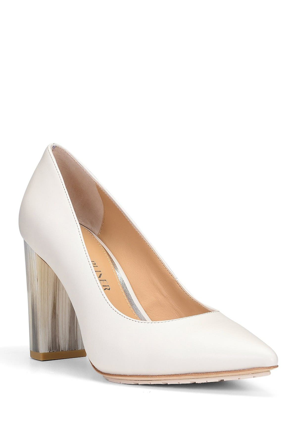 Image of Donald Pliner Neal Leather Block Heel Pump